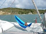 New hammock on PatiCat Voyage 440 catamaran